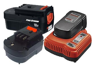 Black and Decker   Battery and Charger Parts