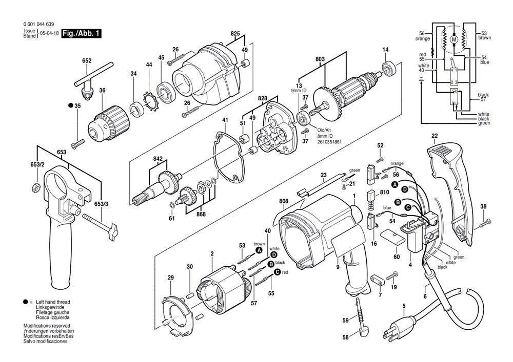 bosch 1033vsr parts list