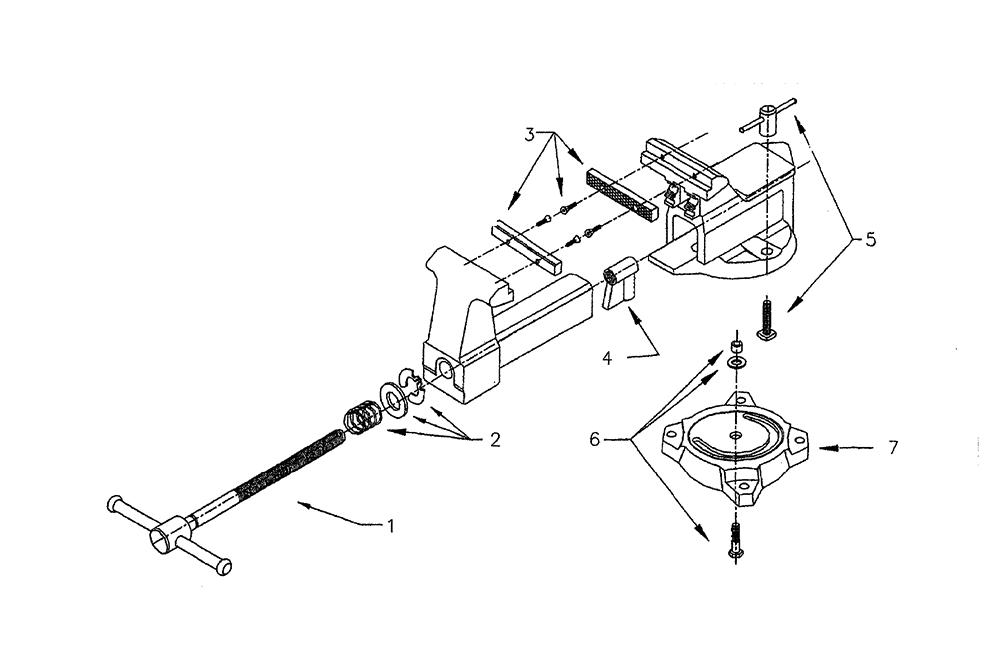 craftsman bench vise parts