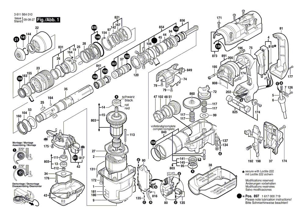 Bosch 11264evs Parts List