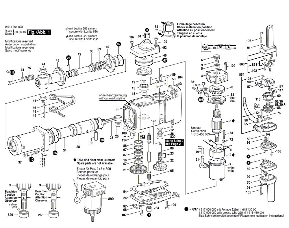 bosch 11304  0611304034  parts list