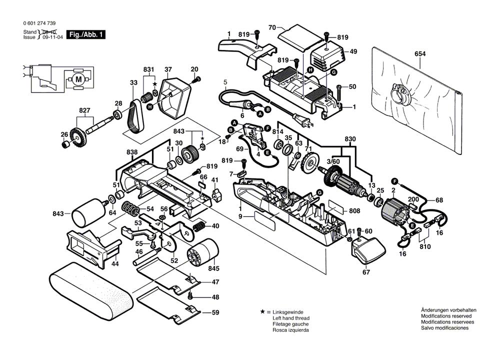 bosch 1274dvs parts list