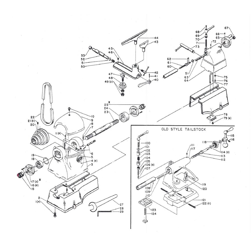delta 1460 parts list