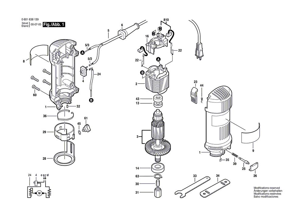 bosch 1638  0601638139  parts list