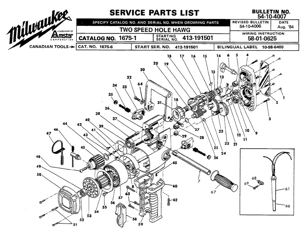 Milwaukee Drill Wiring Diagram on