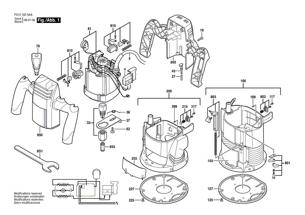 Skil 1825 Parts List