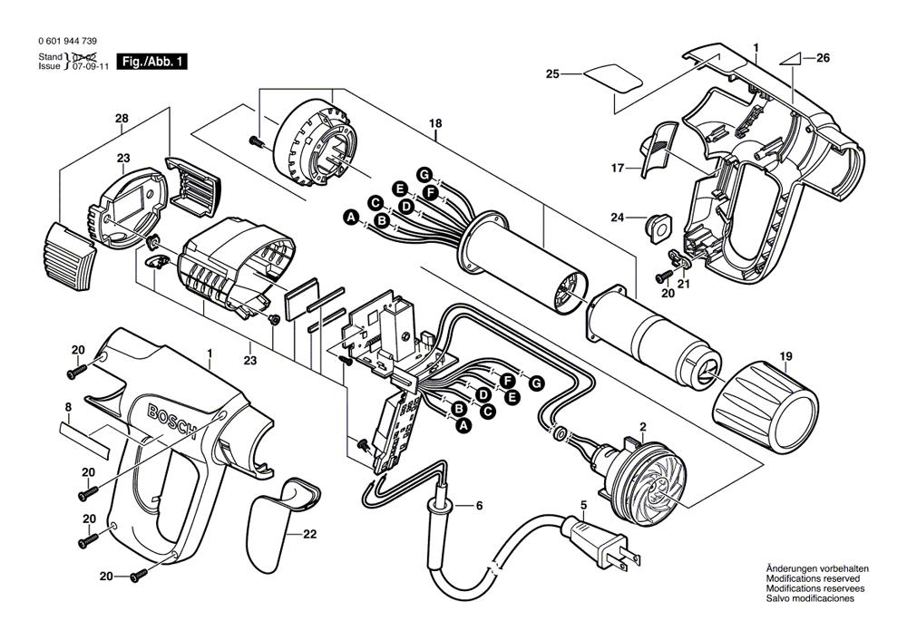 Bosch 1944lcdk Parts List