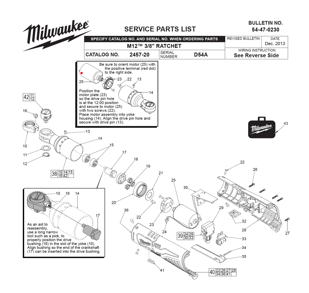 milwaukee 2457
