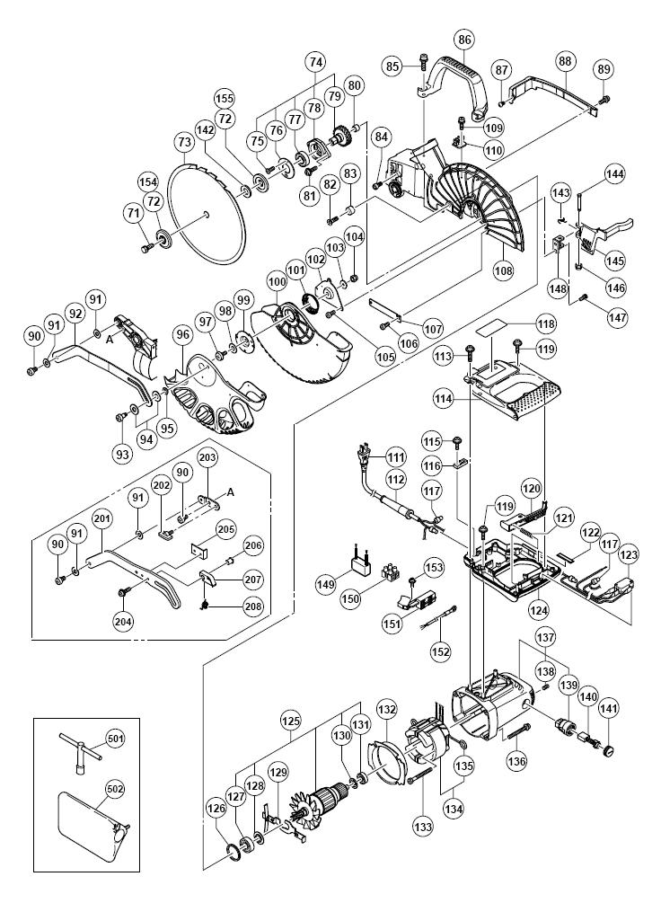 wiring diagram for craftsman miter saw
