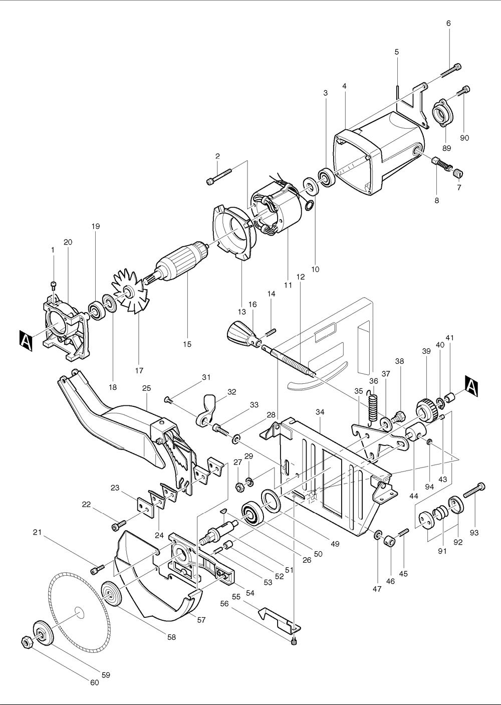 makita table saw 2711 wiring diagram custom wiring diagram u2022 rh littlewaves co  makita table saw switch wiring diagram