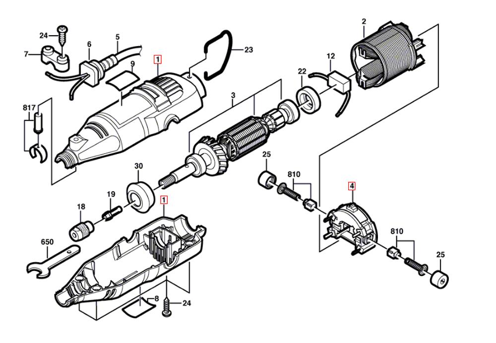 Tool Replacement Parts : Dremel f ca parts list