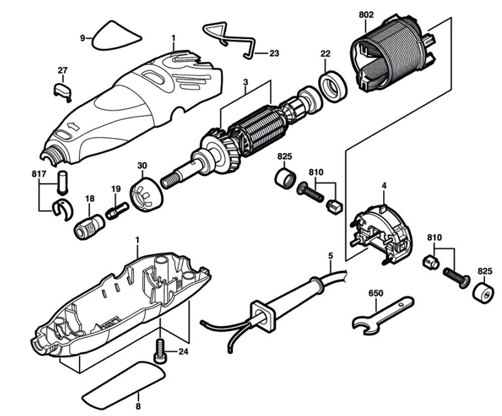 Dremel 300  F013030000  Parts List