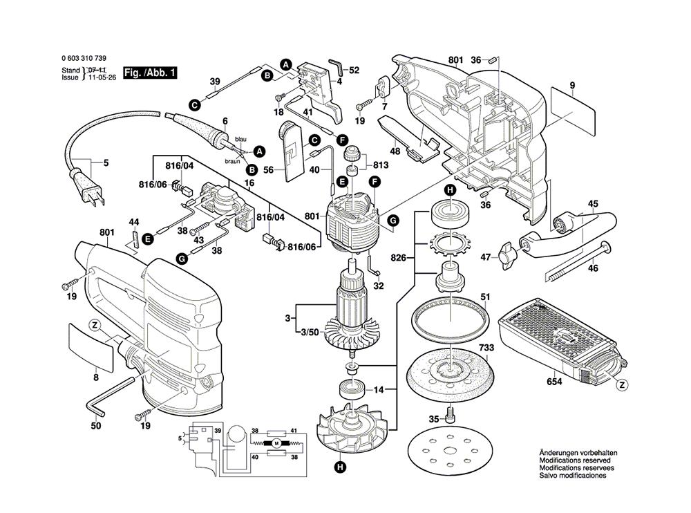 bosch 3107dvs  0603310739  parts list