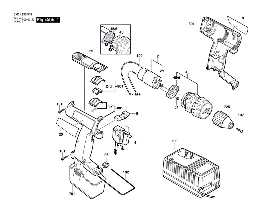 Bosch 3310  0601936549  Parts List