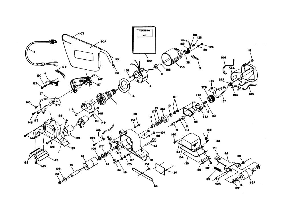 Porter Cable 336 Type 1 Parts List