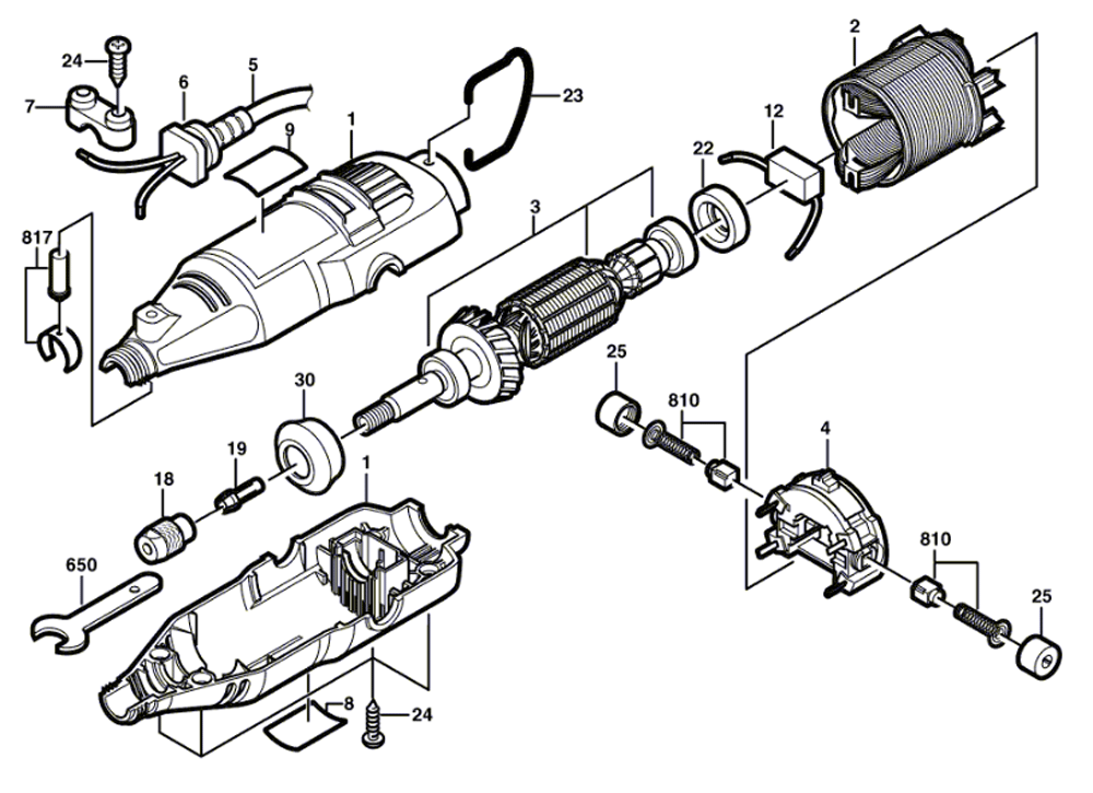 rotary saw diagram enthusiast wiring diagrams u2022 rh rasalibre co dremel 3000 wiring diagram dremel 1680 wiring diagram