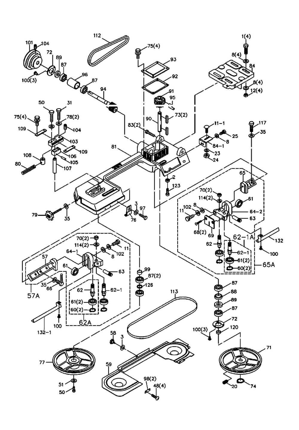 Jet 414458 Parts List Repair Oem With Band Saw Wiring Diagram Schematic