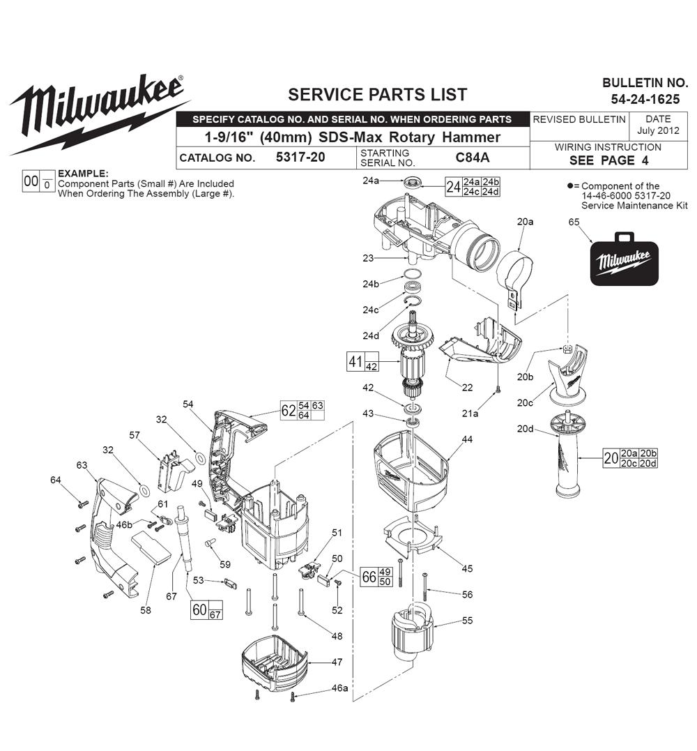 milwaukee 5317 20 c84a parts list milwaukee 5317 20 c84a repair rh repairtoolparts com