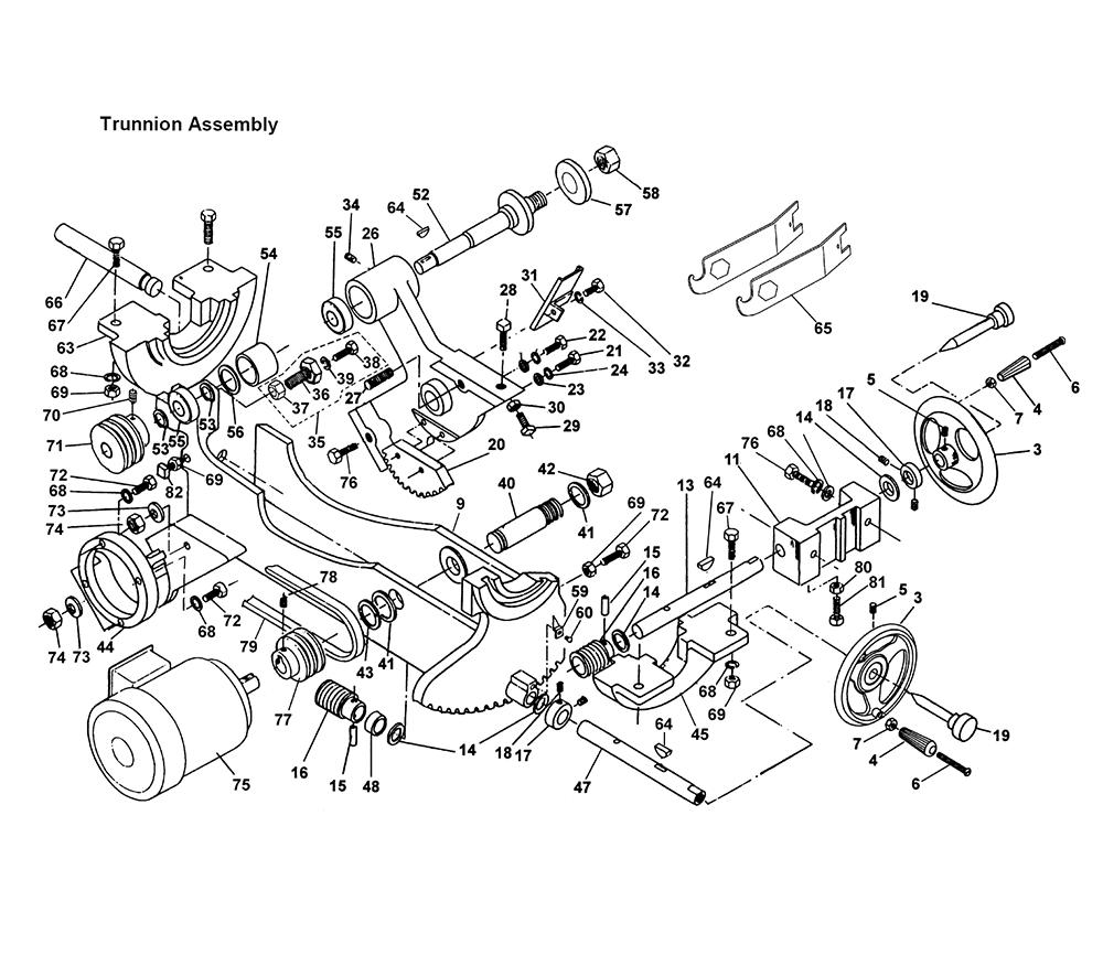 Powermatic 66 parts list powermatic 66 repair parts for Powermatic 66 table saw motor