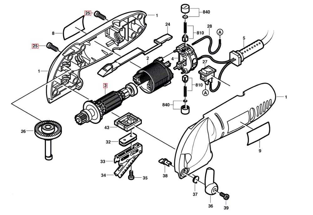 Dremel 6000  F013600003  Parts List