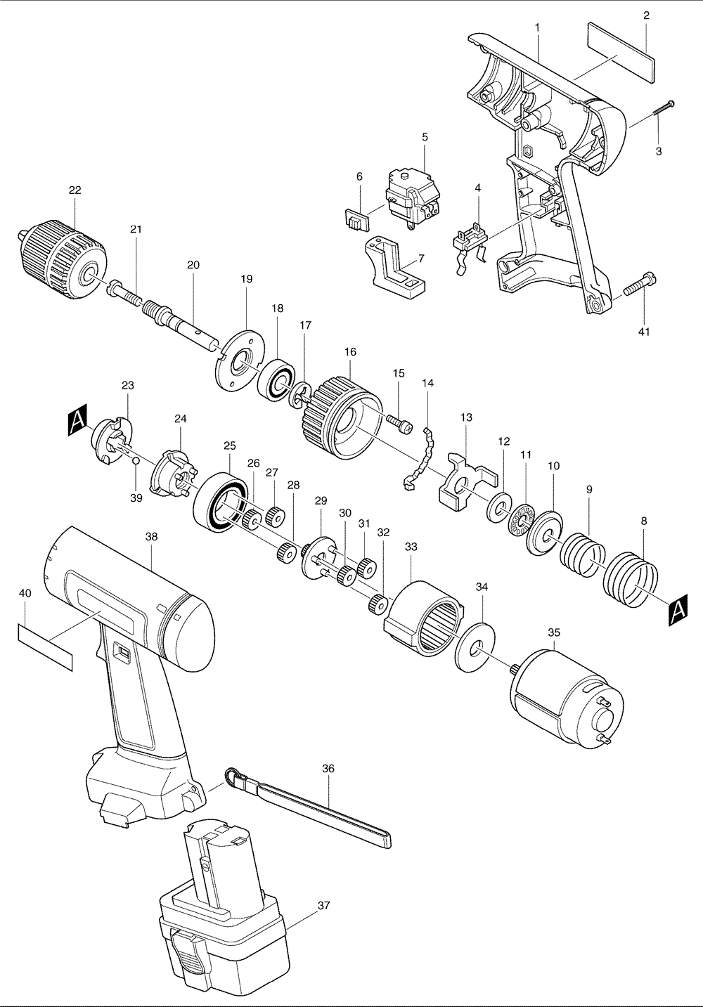 Makita 6222d Parts List