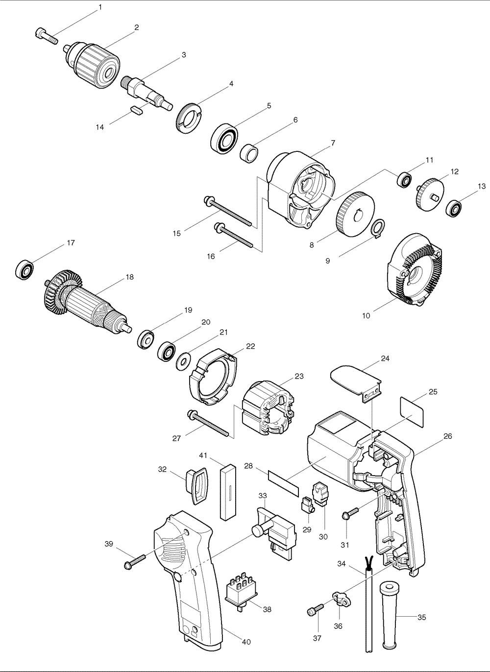 Makita 6302H Parts Schematic