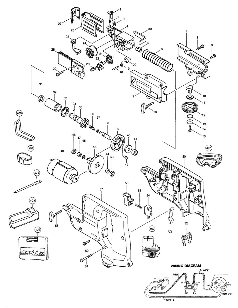 Cordless Makita Parts Diagram Replacement Wire Diagrams Blower Wiring 6835dwa List Repair Oem 9227c Breakdown