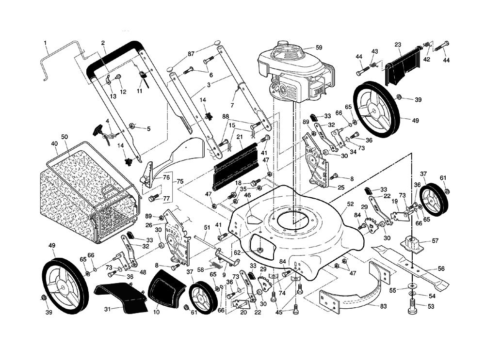husqvarna mower parts diagram
