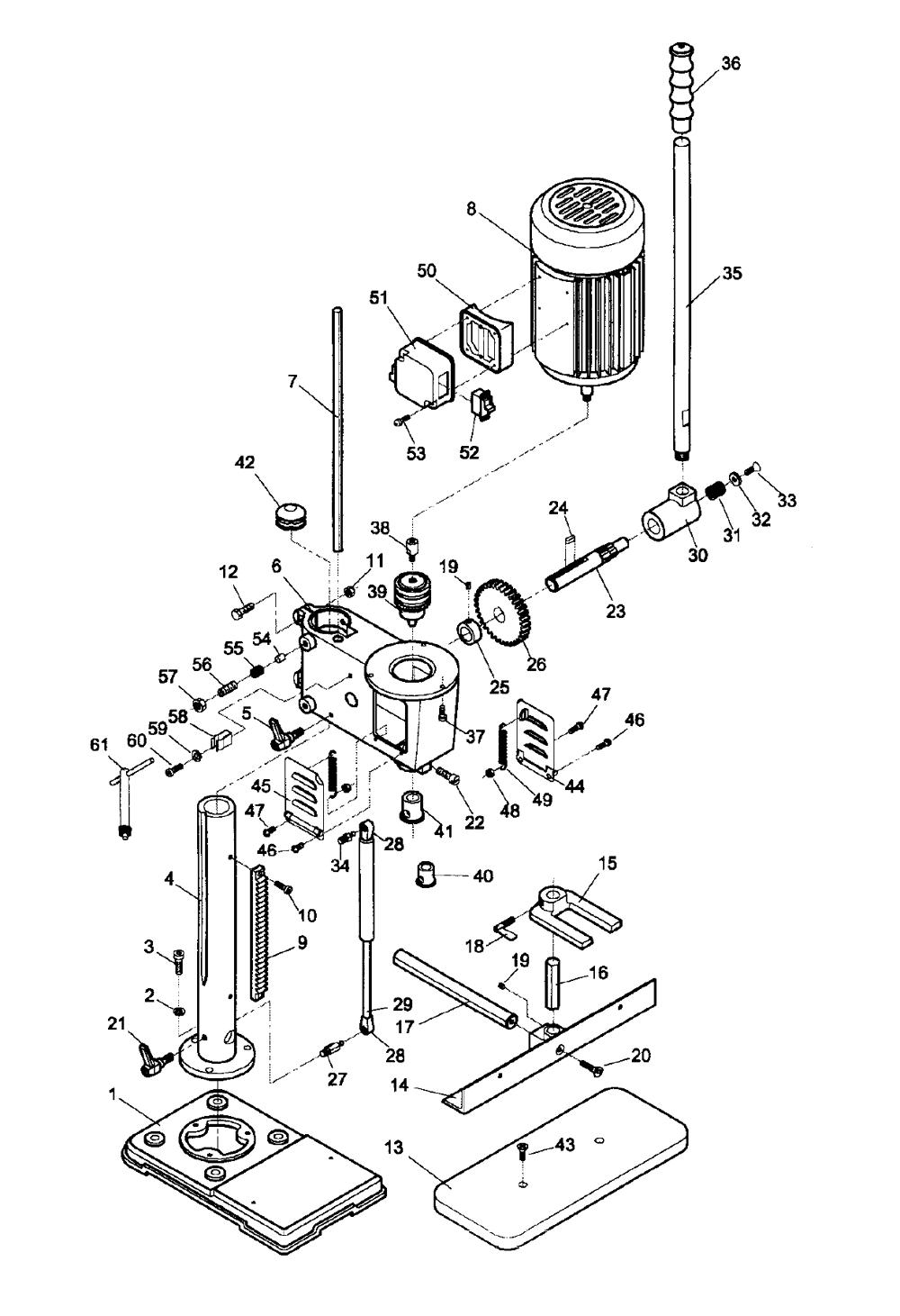 jet 708580 parts list