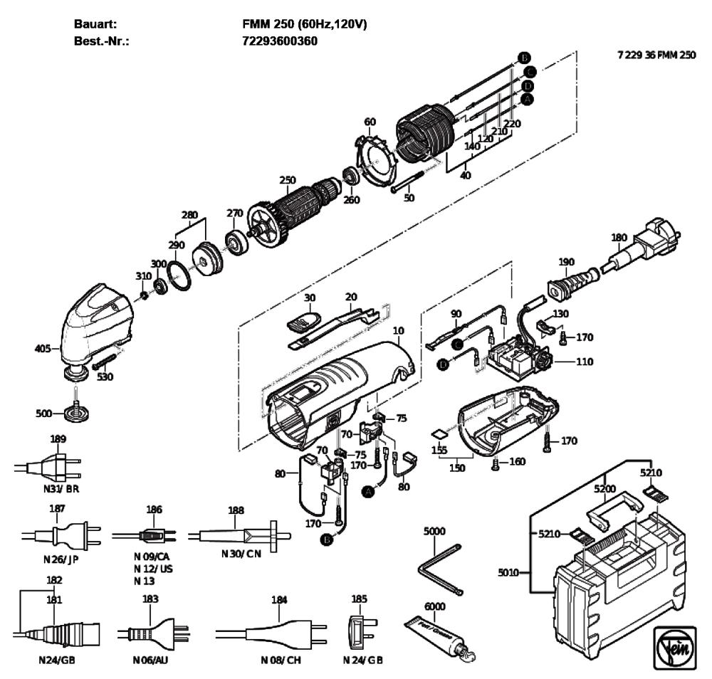fein 72293600360 parts list