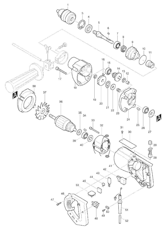 Makita 8419B Parts List | Makita 8419B Repair Parts | OEM