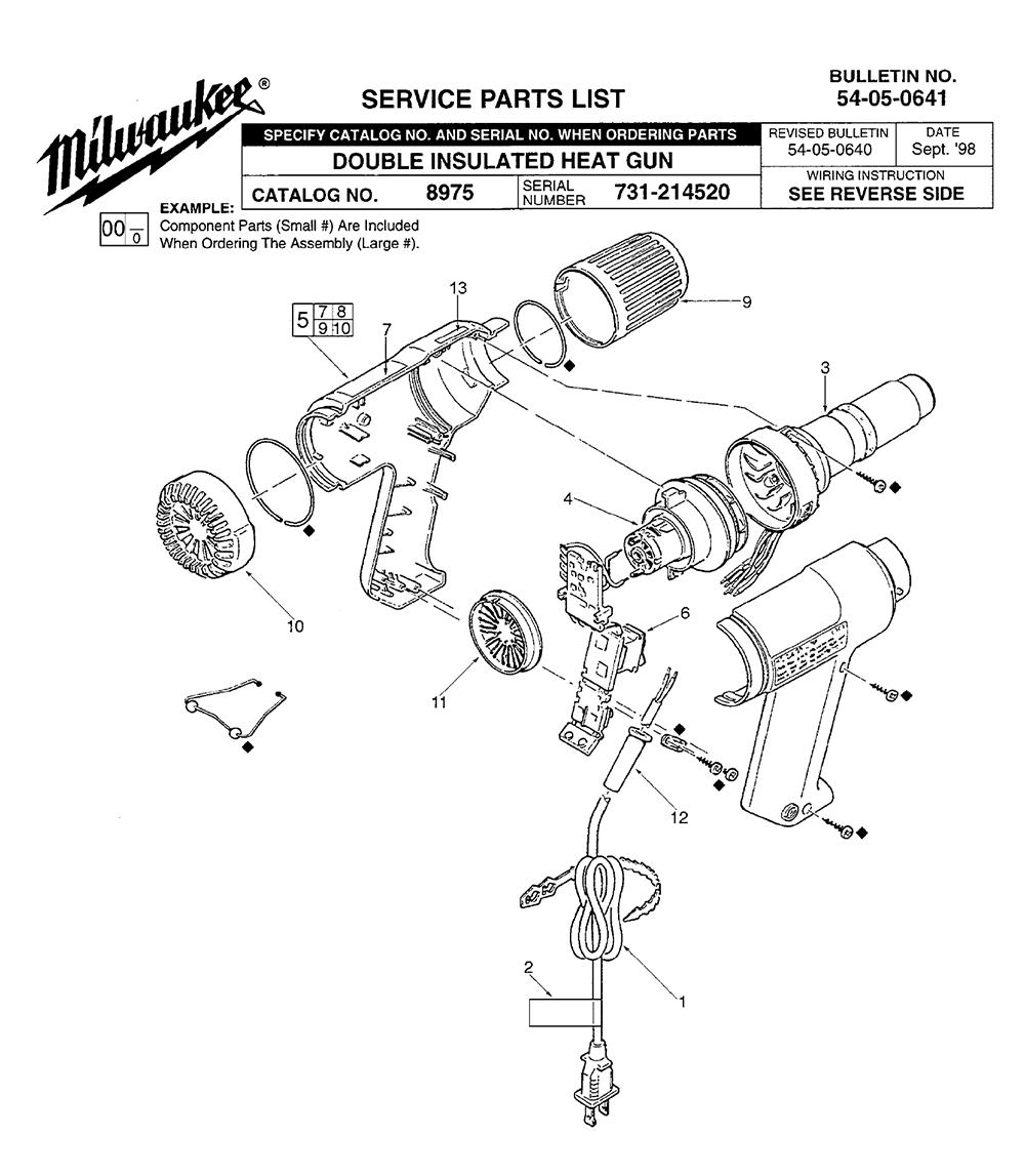 milwaukee heat gun schematic