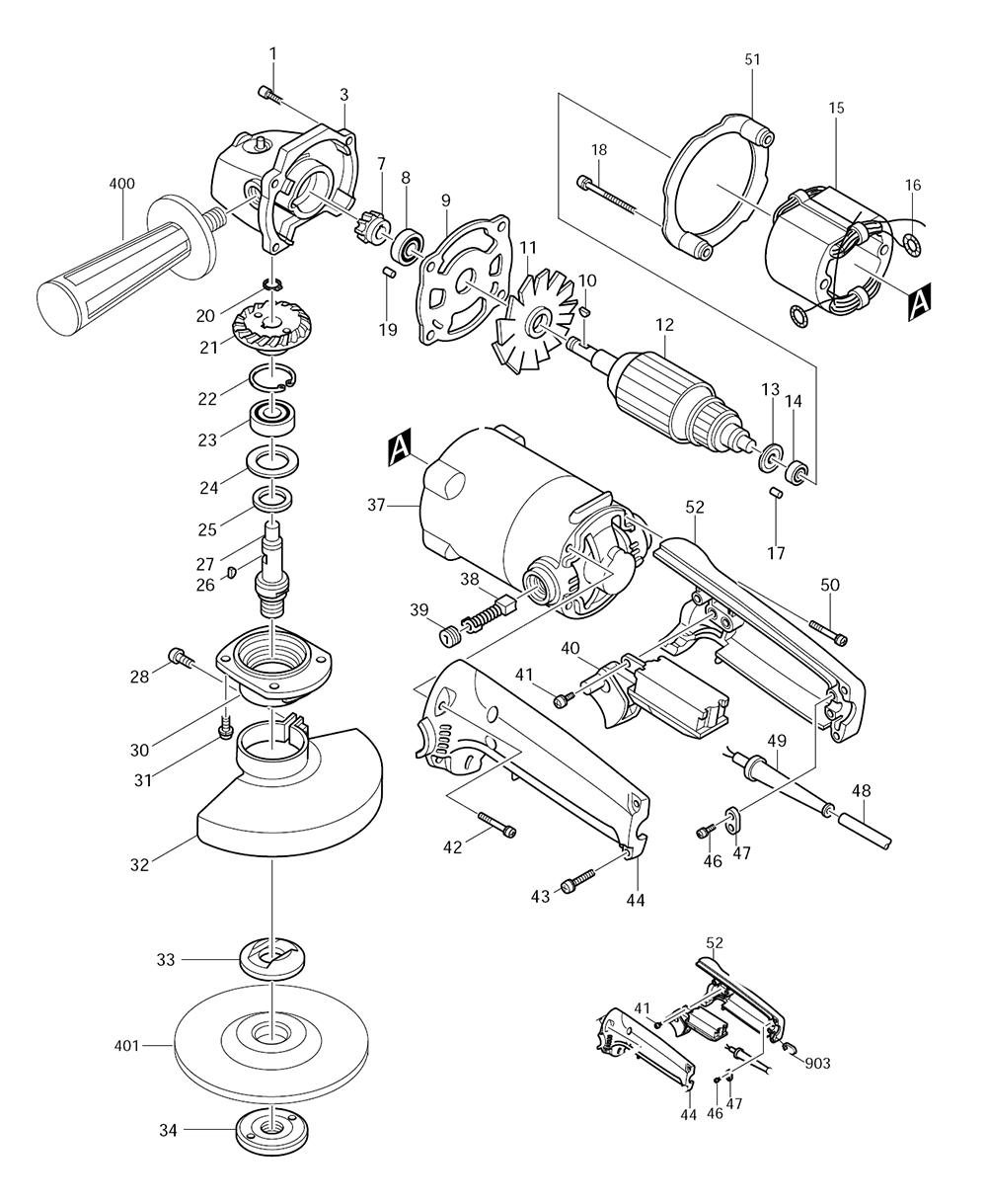 Makita 9005b Parts List