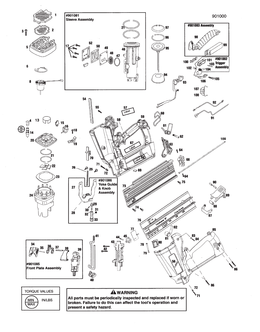 Paslode 901000 Parts List | Paslode 901000 Repair Parts | OEM Parts