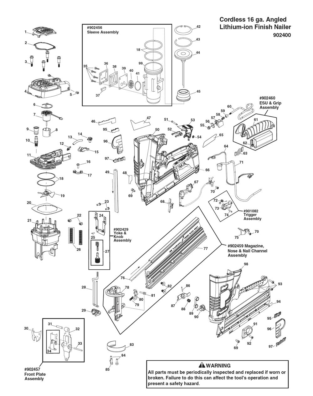 Paslode Diagram Part 94 - Online Schematic Diagram •