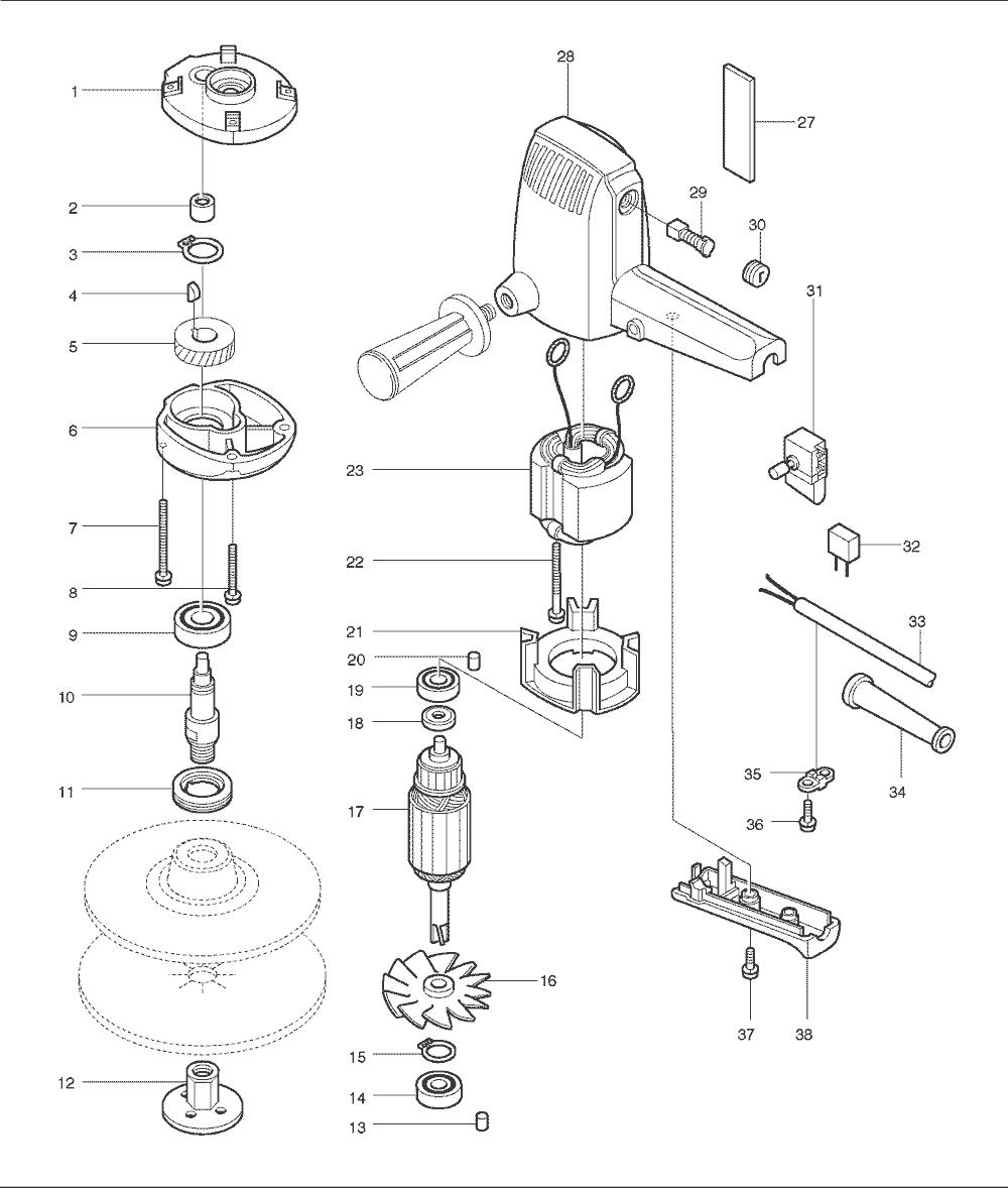 Makita 9218sb Parts List Repair Oem Chicago 7 Polisher Wire Diagram Schematic