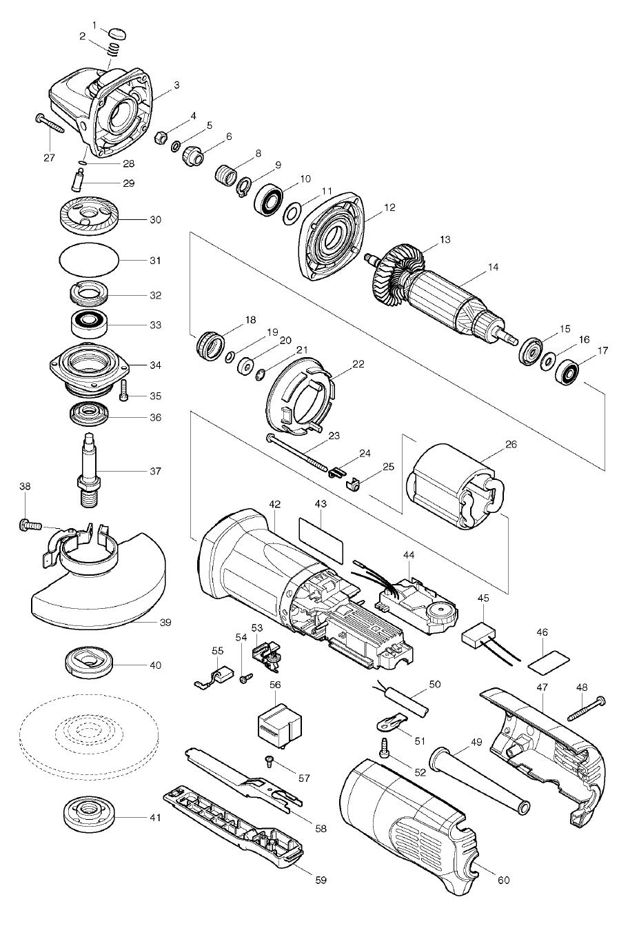 Makita 9565PCV Parts List | Makita 9565PCV Repair Parts | OEM Parts on