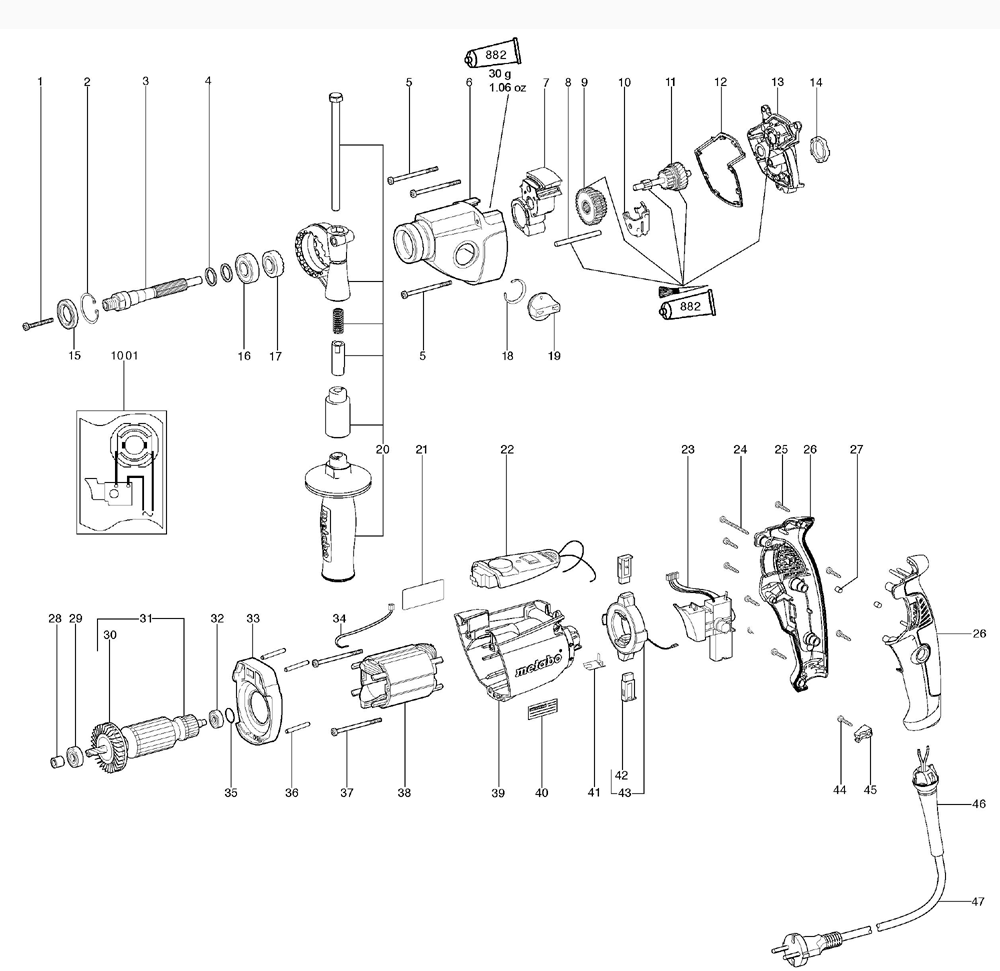 Metabo Be1100 00582420 Parts List Wiring Diagram Schematic