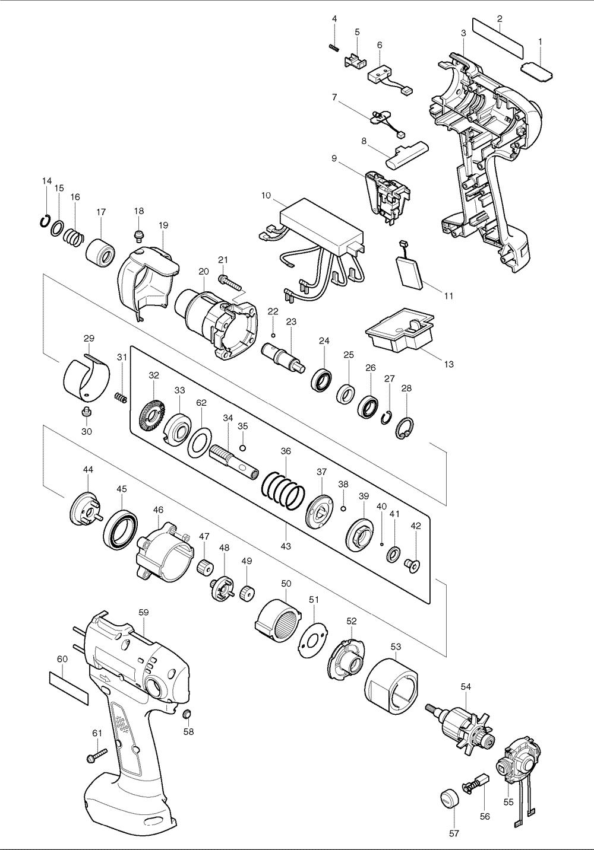 Makita BFT123F Parts List   Makita BFT123F Repair Parts