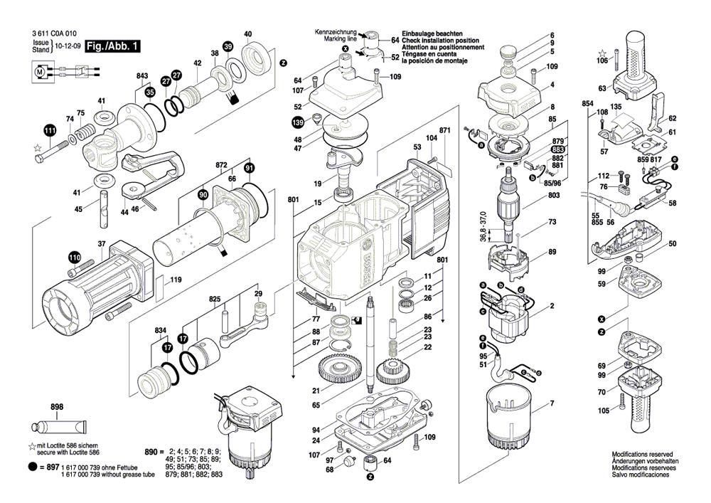 bosch bh2760vc parts list