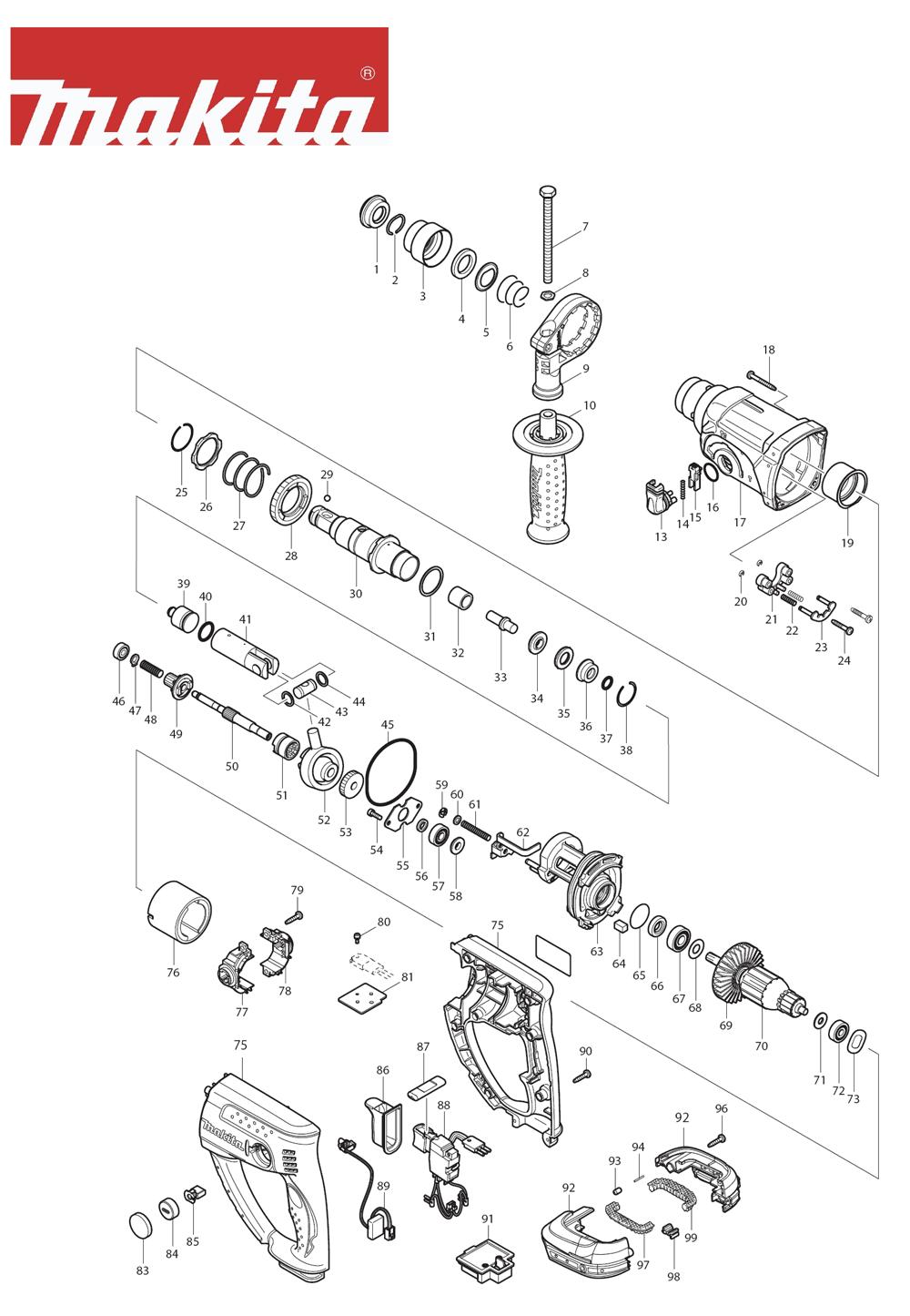 Makita BHR202F-Type-3 Parts List | Makita BHR202F-Type-3 ... on