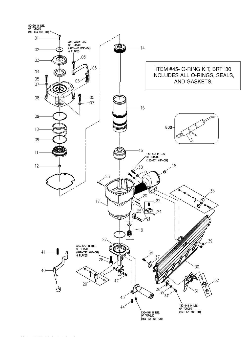 bosch air nailer parts