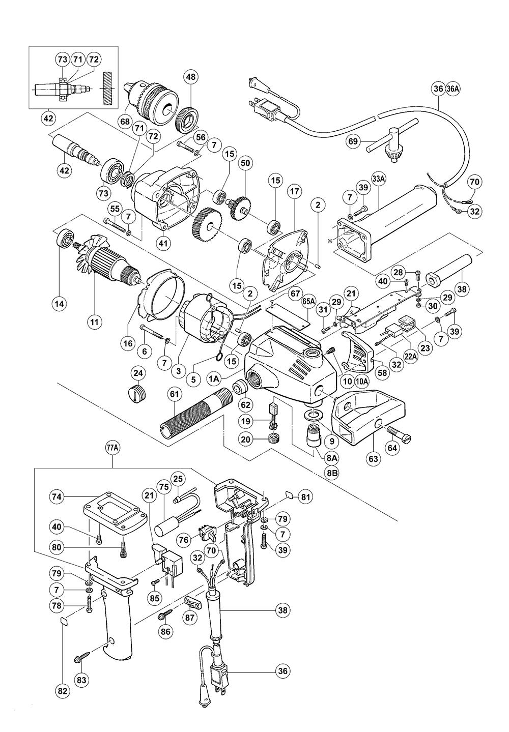 Hitachi BU-PN3 Parts List | Hitachi BU-PN3 Repair Parts