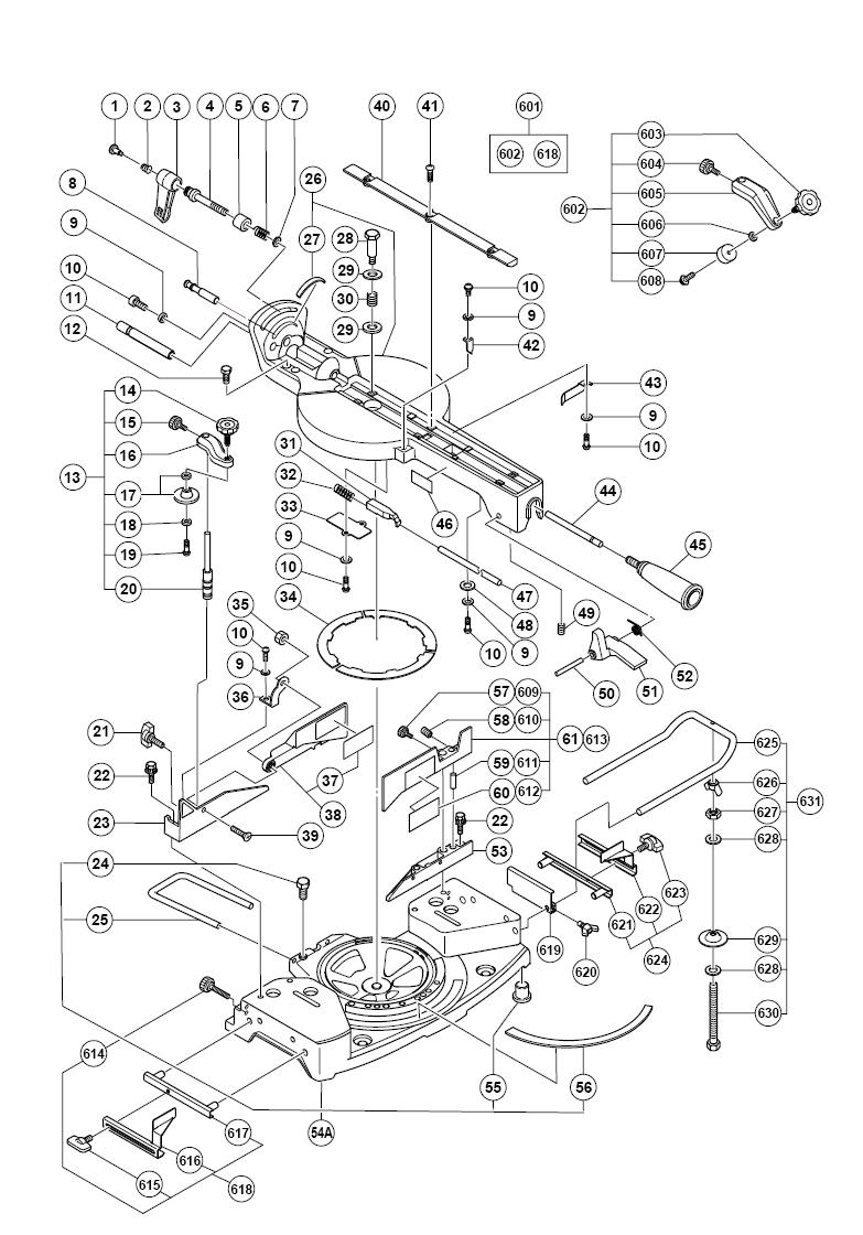 Hitachi C10fsh Parts List