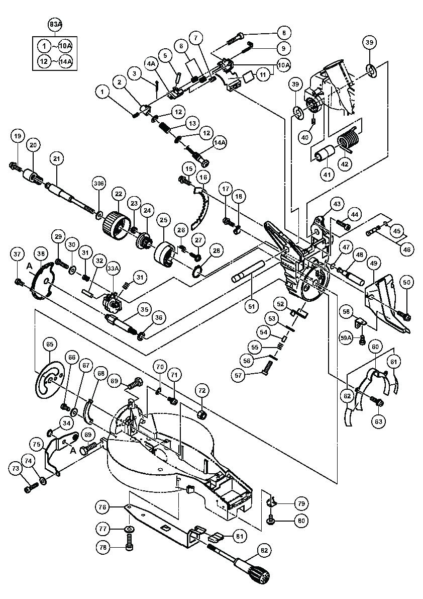 Hitachi Miter Saw Parts List