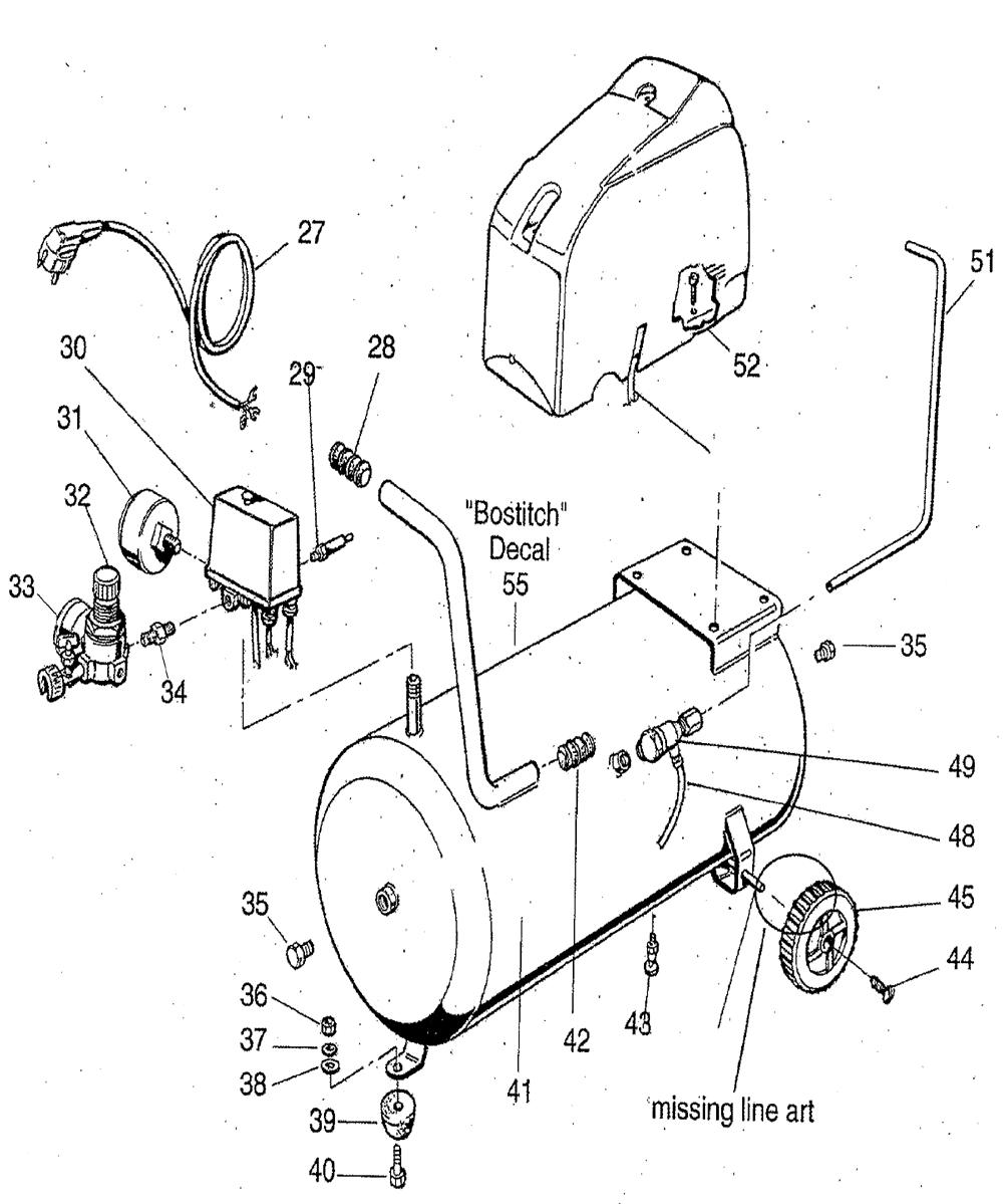 Bostitch CAP1560-Type-0 Parts Schematic