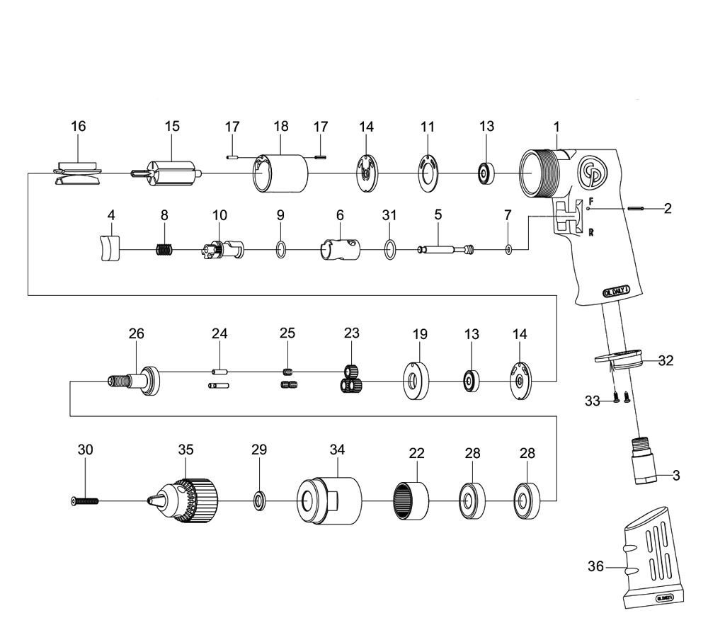 Chicago Pneumatic Cp9790 Parts List