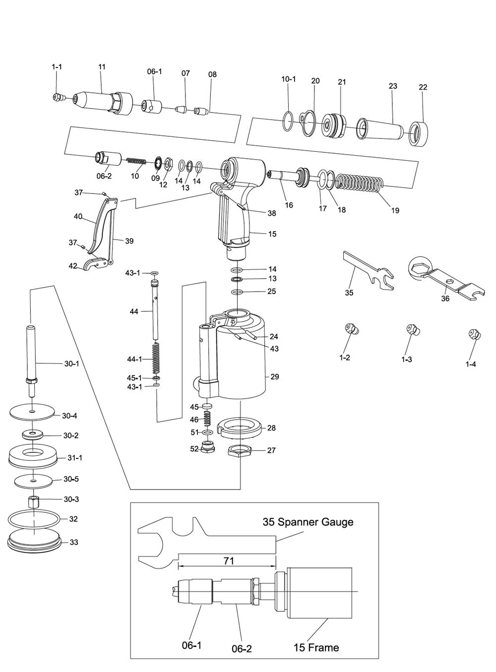 Pneumatic Counter Schematic Part : Chicago pneumatic cp parts list