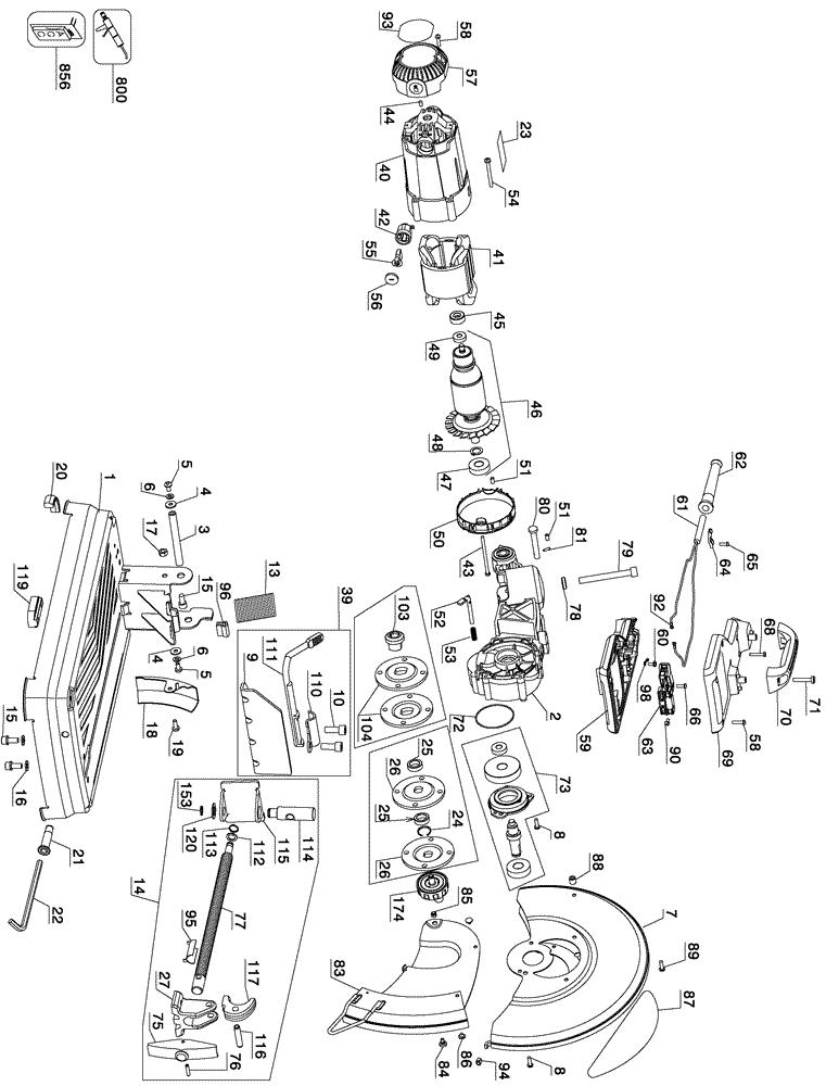 List Dewalt Dg6000 Repair Parts Oem Parts With Schematic Diagram