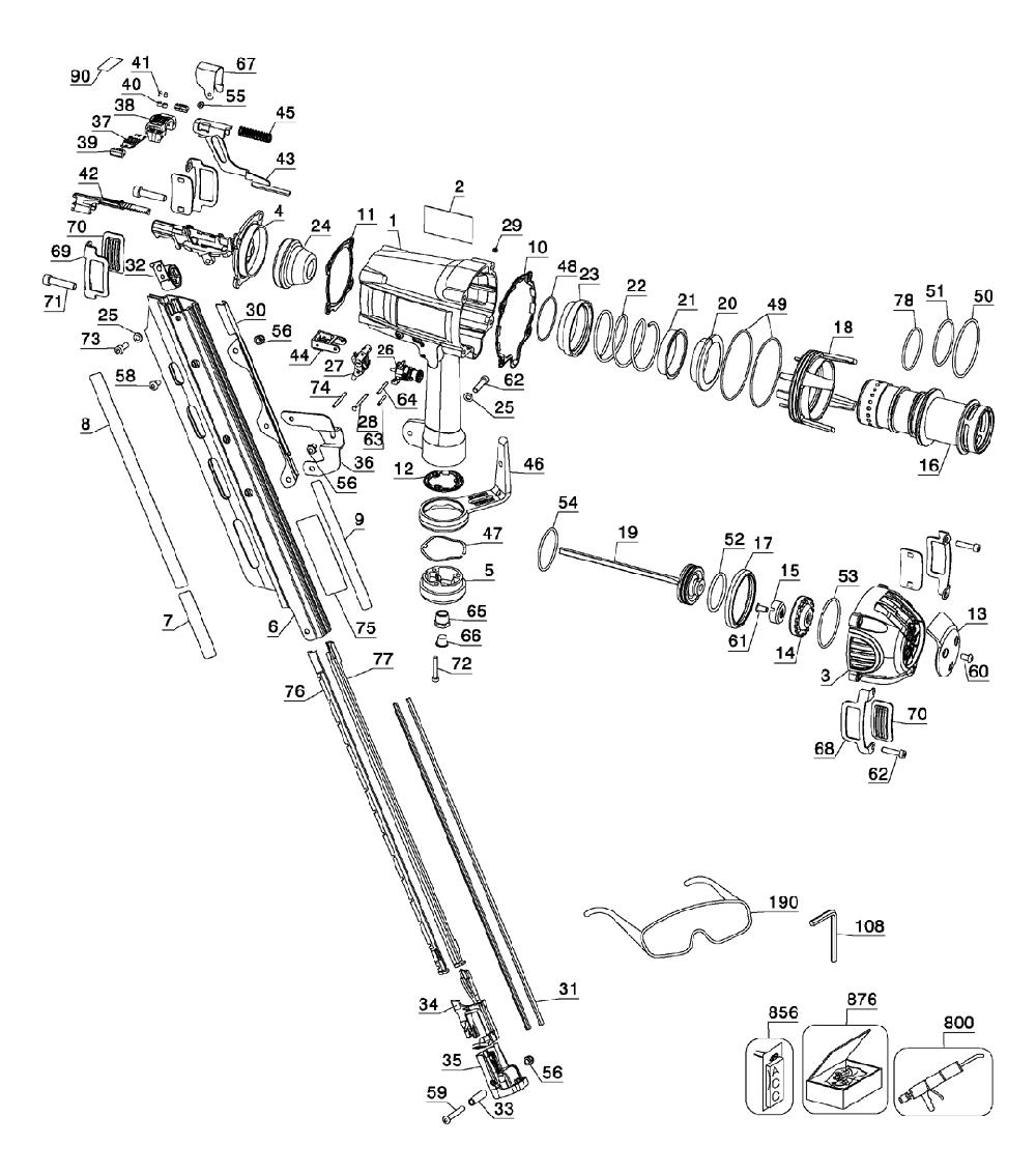 Dewalt D51850 Parts List